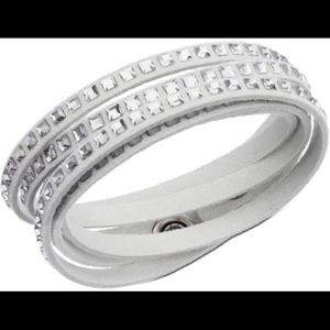 Swarovski Slake Square Crystal Wrap Bracelet
